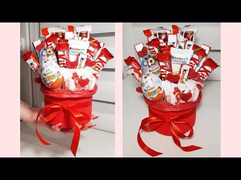 Сладкий букет из конфет своими руками! Сладкие подарки своими руками! Как сделать сладкий букет?