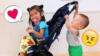 【寸劇】みのちゃんはいつでも赤ちゃんになりたい!素敵なお姉ちゃんになって赤ちゃんのお世話できるかな?*Mino Pretend nanny 教育 こたみのチャンネル