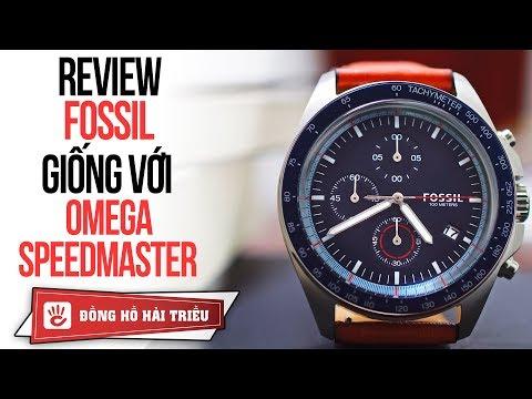 Review đồng Hồ FOSSIL CH3039 | Omega Speedmaster Phiên Bản Máy Quartz Giá Chỉ Bằng 1/50!!