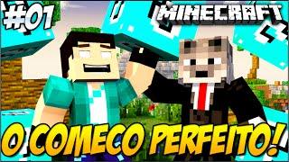 Minecraft - SKY WARS DA SORTE AZUL!! #1 O COMEÇO PERFEITO!