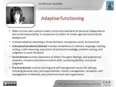 IACAPAP MOOC: 13. Intellectual disability (Nora Rodríguez Pe