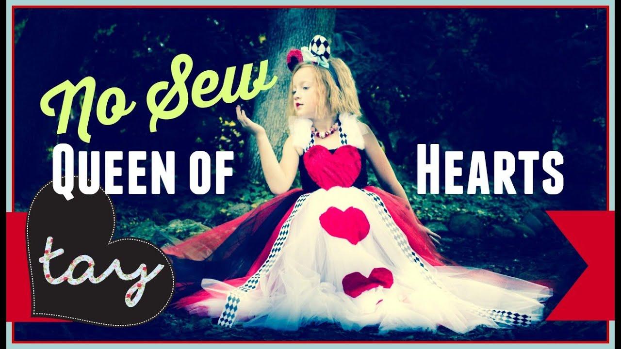 No sew queen of hearts tutorial diy youtube solutioingenieria Image collections