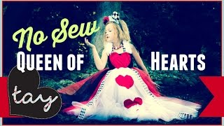 No Sew Queen Of Hearts Tutorial Diy