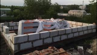 Строим дачный домик своими руками. Первый этаж из газоблока.(, 2016-06-16T20:46:38.000Z)