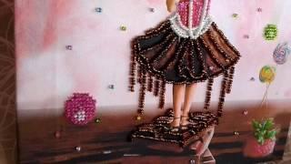 """Обзор схемы для вышивки бисером """"Алиса и Шоколадное море"""" от Марии Шишко"""