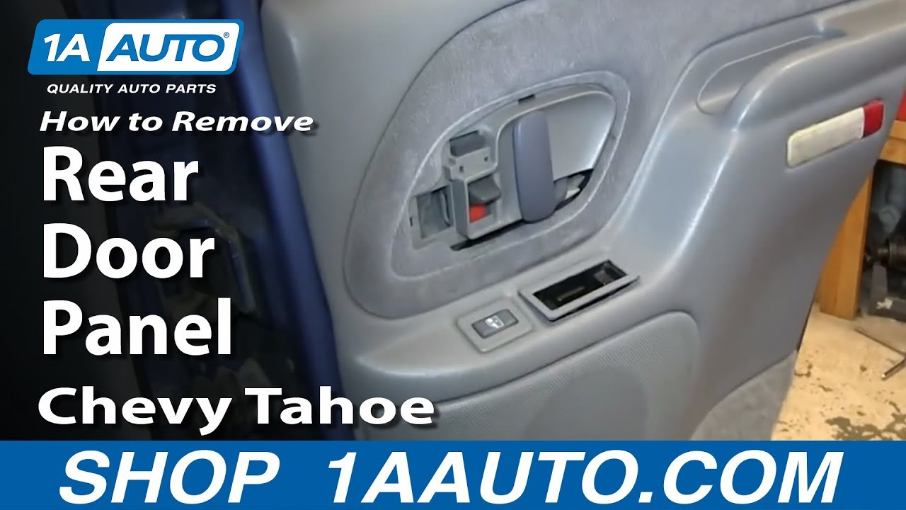 How To Remove Rear Door Panel 95 99 Chevy Tahoe Youtube