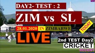 Live: Cricket 2nd Test Day2 ZIM vs SL | Live  today  Day2  Sports News Score & Commentary  Zimbabwe