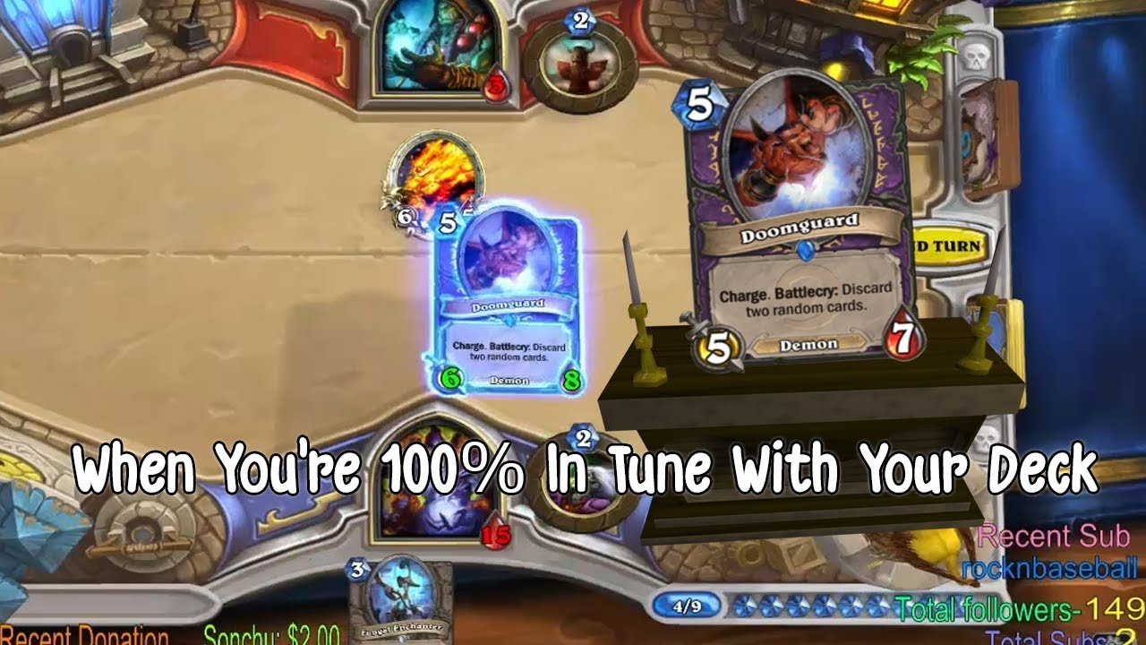 When You're 100% In Tune With Your Deck | Hearthstone