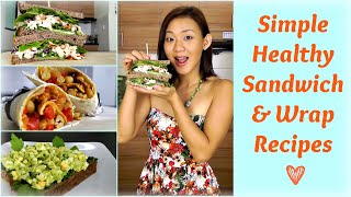 Healthy Sandwich & Wrap Recipes (Packed Lunch for Work or School)