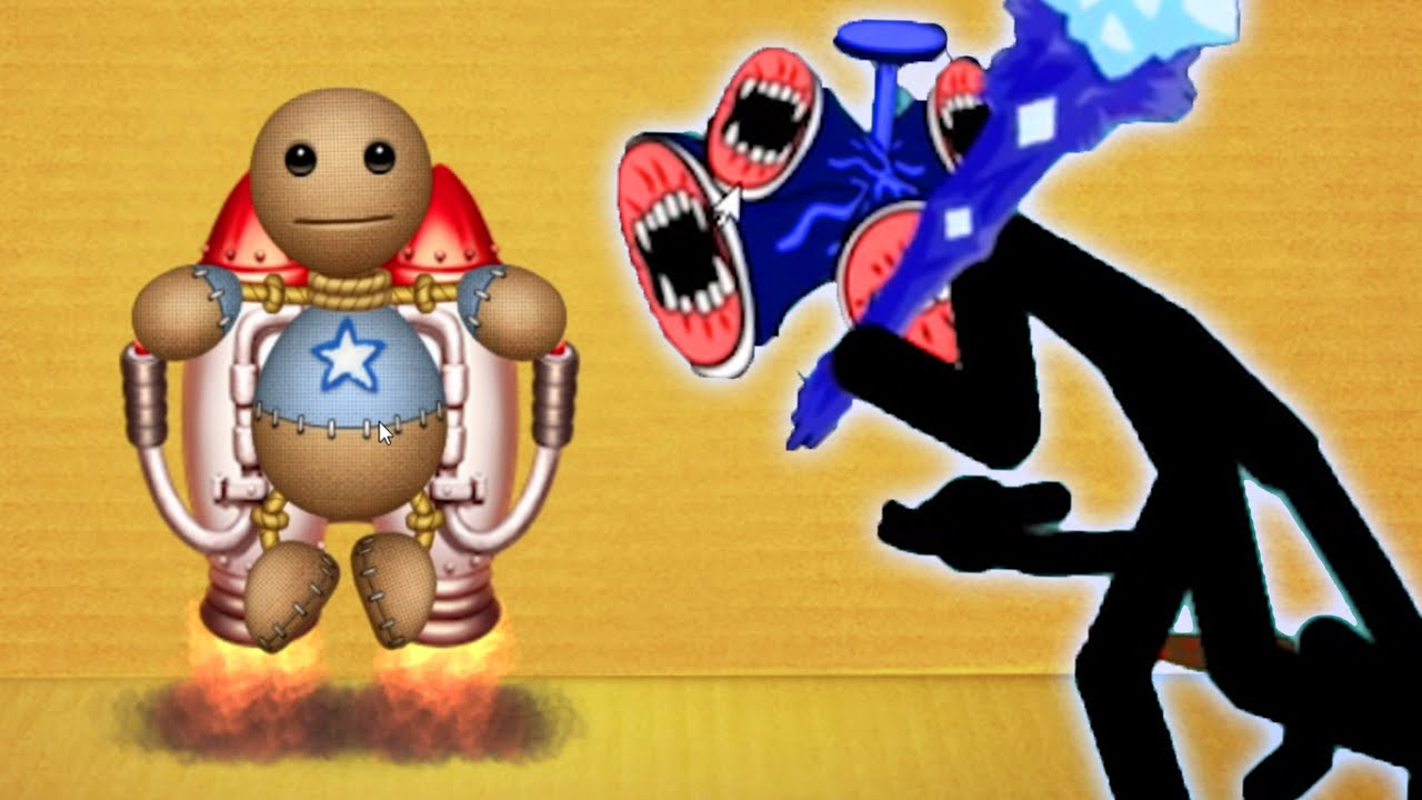 The Buddy Vs Giant Siren Head    Kick The Buddy VS StickWar Legacy  Android iOS Mobile Gameplay
