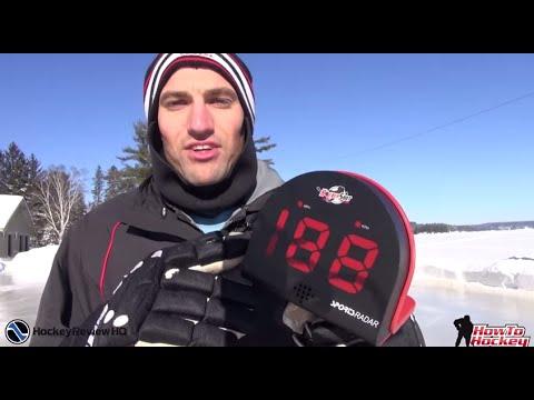 Hockey Shot Radar Gun Review Youtube