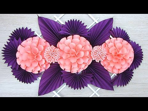 NEW Wall Decoration Ideas | Beautiful Wall Hanging Making at Home | Paper Flower Wall Hanging 2019