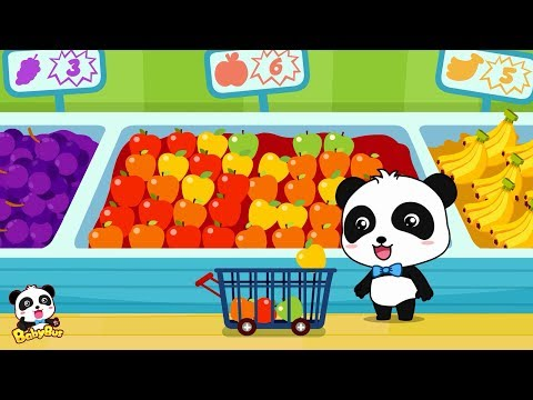 Kids Shopping at the Supermarket & buy toys, food and cake Children Doing Shopping  BabyBus Cartoon