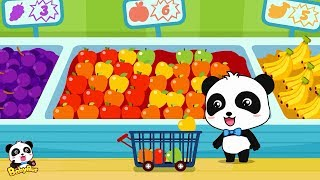 Kids Shopping at the Supermarket & buy toys, food and cake|Children Doing Shopping| BabyBus Cartoon