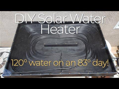DIY Solar Water Heater Full Build