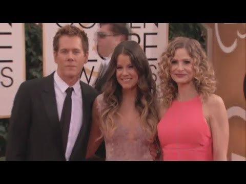 The Bacon Family  Golden Globe Award  2014; red carpet