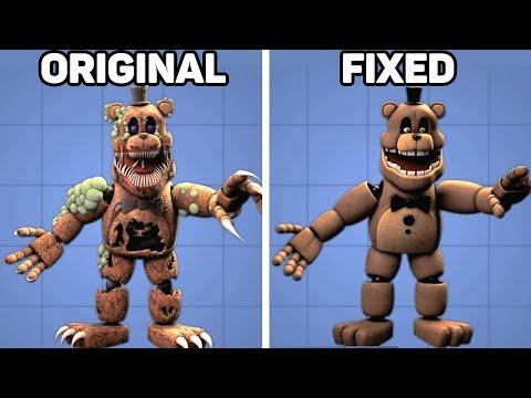 Fixed VS. Original Animatronics in Five Nights at Freddy's #3