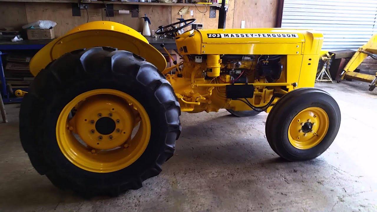 Massey Ferguson Industrial Backhoe Parts : Massey ferguson tractor after total refurb superb