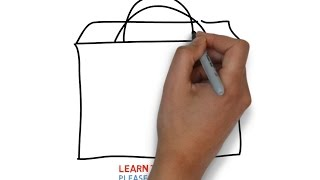 Easy Step For Kids How To Draw a Shopping Bag