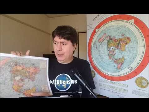 Flat Earth: The AE map is correct and the FE  A**hole (a.k.a Jake Gibson)  is DEAD WRONG