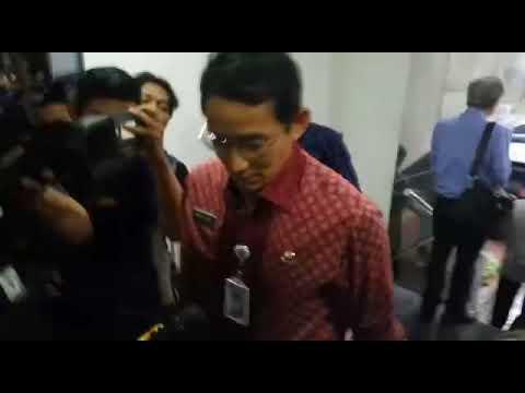 Wakil Gubernur DKI Jakarta Sandiaga Uno di Mapolda Metro Jaya, Kamis (18/1/2018).