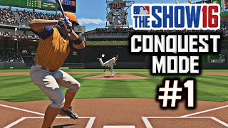 MLB The Show 16 Conquest Mode Gameplay Ep. 1 - Stronghold Showdown!