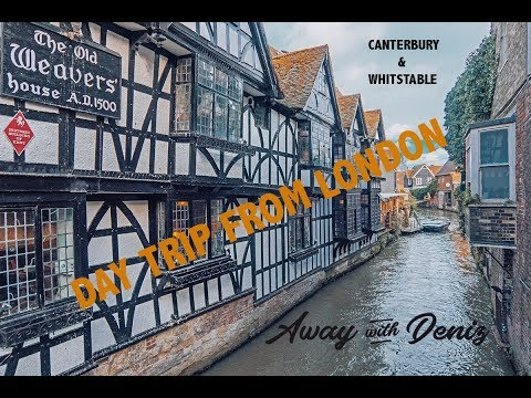 Day Trip From London By Train / Canterbury & Whitstable Travel Vlog