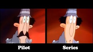 INSPECTOR GADGET Side by Side COMPARISON Pilot vs. Series Intro