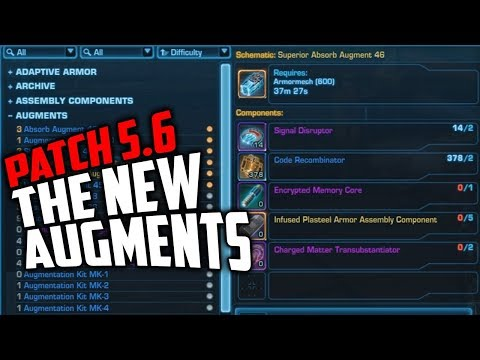 SWTOR Patch 5 6 New Augments Available for Crafting