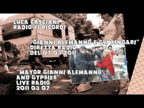"Luca Casciani ""Mayor Gianni Alemanno and gypsies"" LIVE ITALIAN RADIO 2011 03 07"