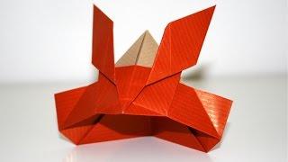 Origami - Casque de samourai - Samurai helmet [Senbazuru]