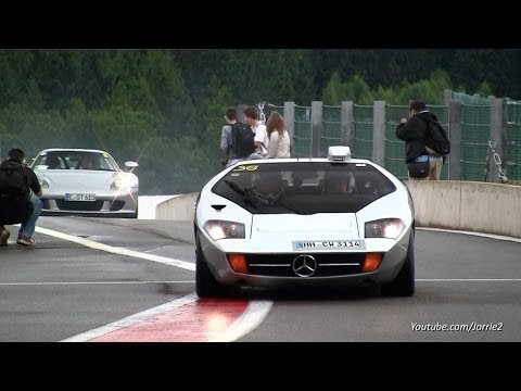 VERY RARE Mercedes Isdera Imperator 108i In Action!! Powerslide & Flybys - 1080p HD