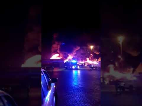 Incendio afecta al Puerto de Iquique