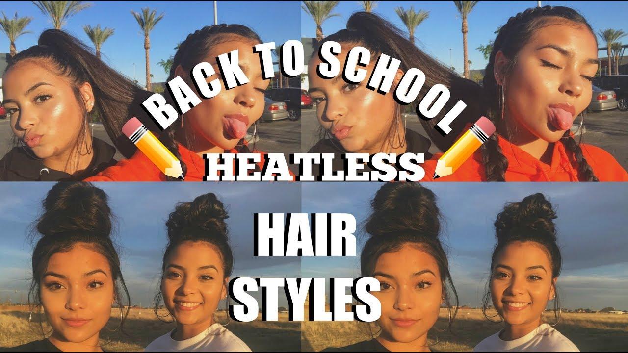 6 Easy Back To School Heatless Hair Styles!
