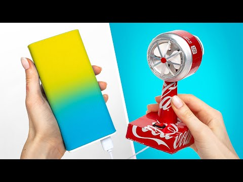How To Make Amazing USB Fan Toy With Aluminium Cans🥤💨