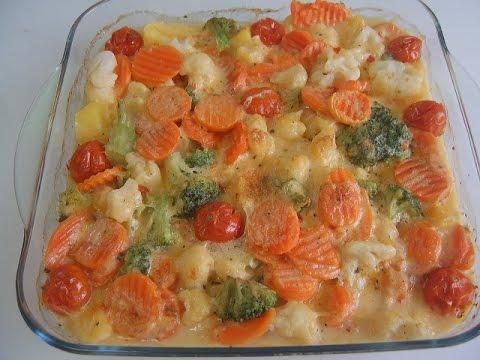Рыба, запеченная с рисом и овощами - кулинарный рецепт