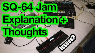Korg SQ-64 : first jam explanation and thoughts