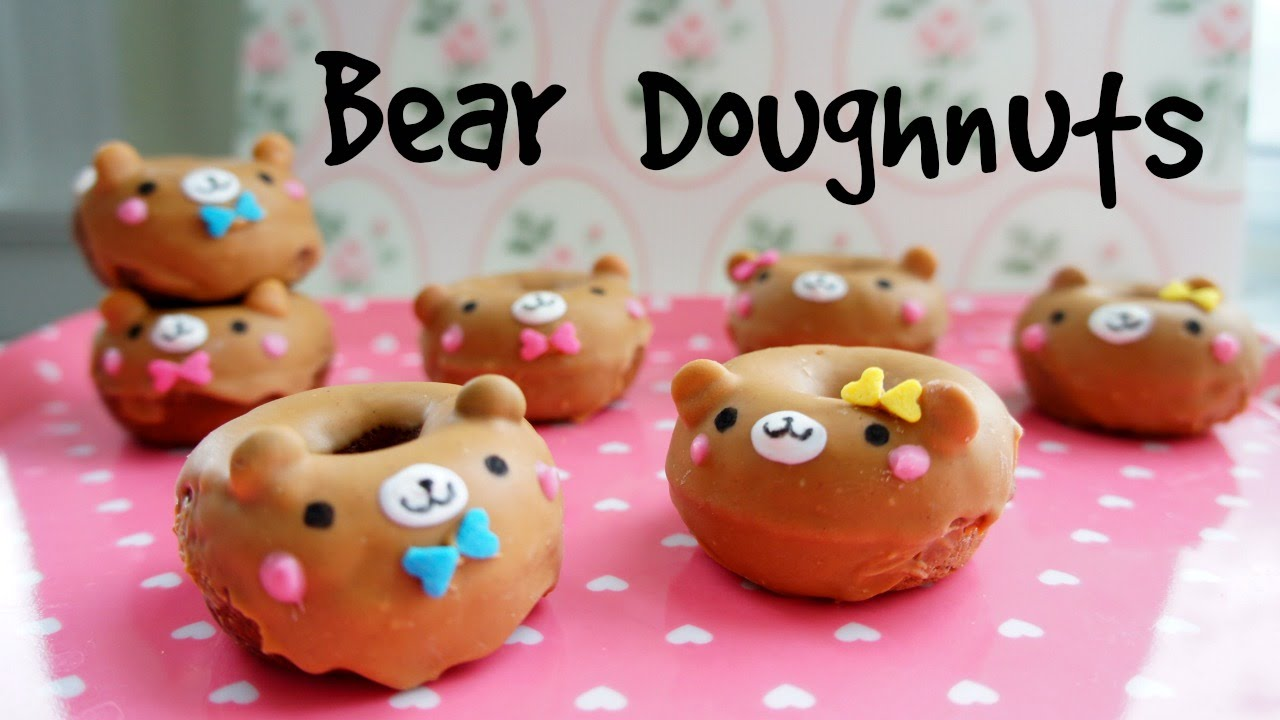 How to Make Mini Bear Doughnuts - Valentine's Recipe - YouTube