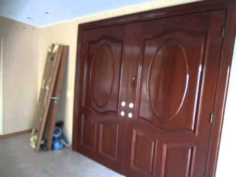 puerta de maderas finas con acabado new look - YouTube