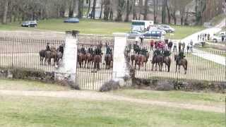 Cor de chasse avant chasse à Courre - Château de Gizeux