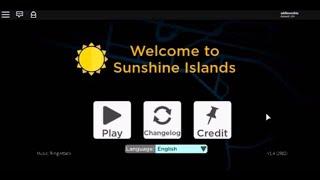Brand new gui for Roblox Sunshine Islands
