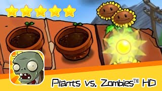 Plants vs  Zombies™ HD ROOF Level 02 Walkthrough The zombies are coming! Recommend index five stars