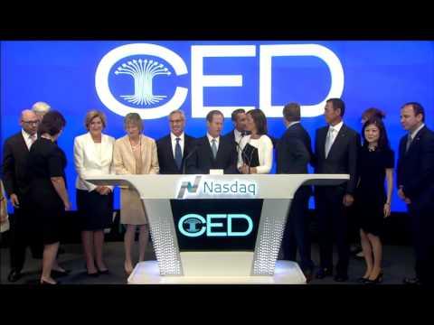 CED Rings the NASDAQ Closing Bell -- September 14, 2016