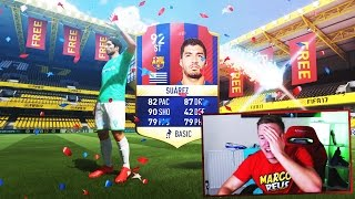 HOLYYY SH*T SUAREZ IN A FREE PACK!! - FIFA 17 Pack Opening