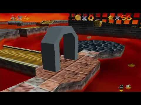 Super Mario 64 100% Walkthrough Part 7 - Lethal Lava Land