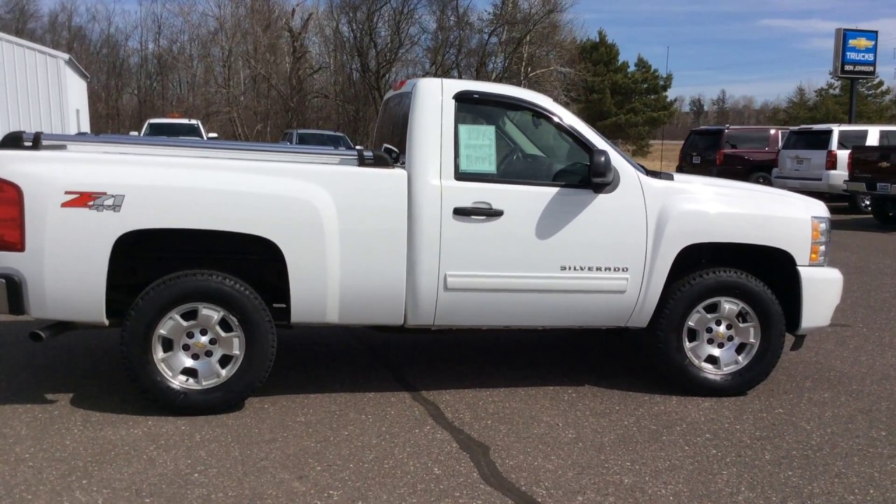 2010 chevrolet silverado lt 4wd white single cab h17070a for Don johnson hayward motors