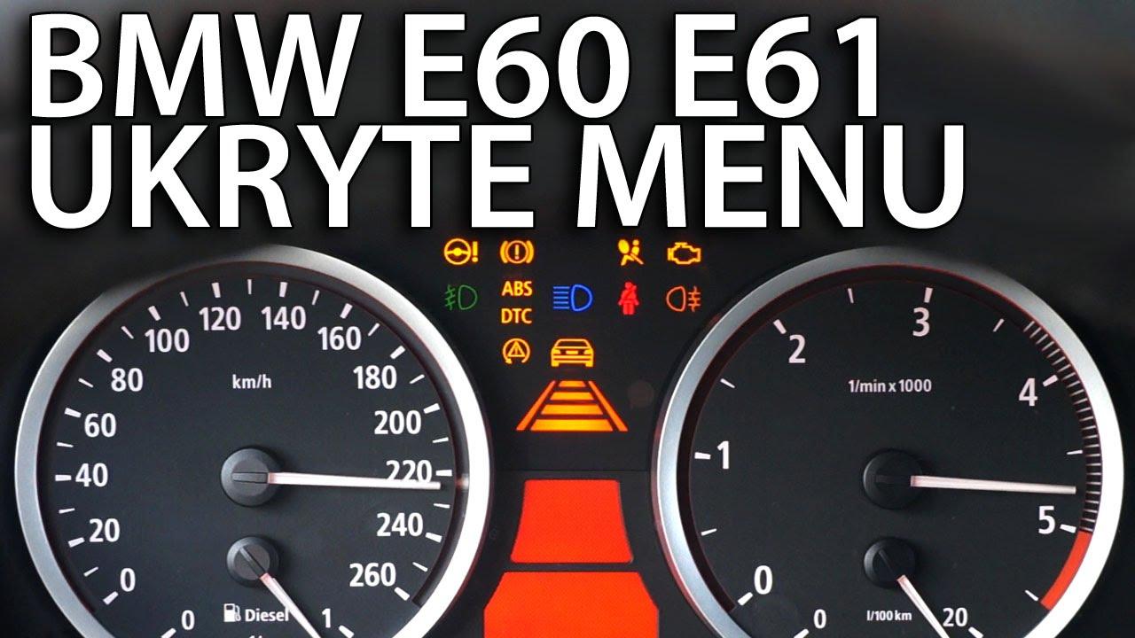 Ukryte Menu Zegar 243 W Bmw E60 E61 Diagnostyczny Tryb