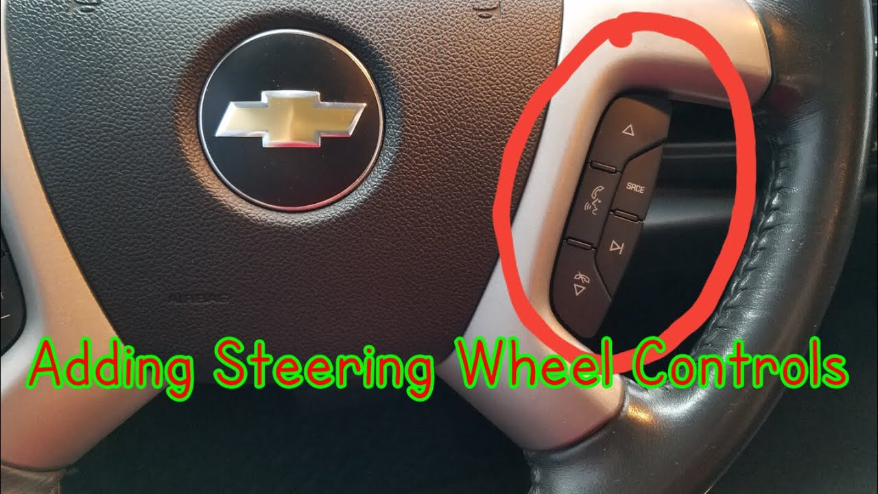 How to add steering wheel radio controls to your Silverado Sierra Tahoe Yukon  YouTube