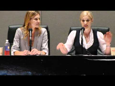Tricia Helfer and Katee Sackhoff Women of Scifi Con 2011