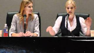 Tricia Helfer and Katee Sackhoff- Women of Scifi Con 2011